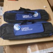 X 5 BRAND NEW TACKLE SHOP FISHING BAGS