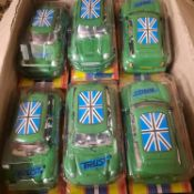 X 24 BRAND NEW MINI COLLECTION AUTO SPEED CAR TOYS GREEN.