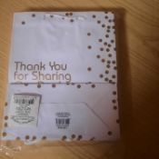 X 30 BRAND NEW THANK YOU FOR SHARING WHITE AND GOLD GIFT BAGS. TOTAL RRP £58.50
