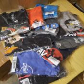 X 12 NEW AND INDIVIDUALLY PACKAGED T-SHIRTS IN VARIOUS COLOURS, SIZES, AND DESIGN.