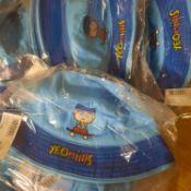 X 12 BRAND NEW KIDS SKY BLUE SUN HATS