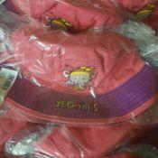 X 12 BRAND NEW KIDS PINK SUN HATS