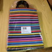 X 15 BRAND NEW EXTRA LARGE STRIPE GIFT BAGS. TOTAL RRP 44.85