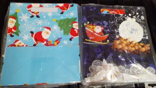 X 48 BRAND NEW BIG BAGS OF SANT & SNOWMAN IN TWO DESIGN.