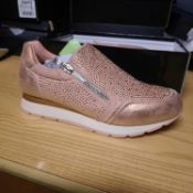 NEW & BOXED CHAMAGNE TIGER LADIES TRAINERS SIZE UK - 7/ EU - 39 COLLECTION BY WALLIS. RRP £45