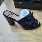 NEW & BOXED LADIES NAVY SHIMMER SHOES BY WALLIS COLLECTION SIZE UK - 7 / EU - 40. RRP £46
