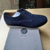BOXED AND NEW CALVESTON NAVY GENTLEMANS SHOES SIZE UK - 10/ EU - 44/ US -11 BY HUDSON. RRP £65