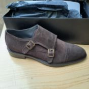 NEW & BOXED BROWN MORLEY MONK GENTLEMANS SHOES SIZE UK - 6/ EU - 40/ US -7 BY TOPMAN. RRP £39.99