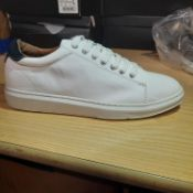 NEW & BAGUED WHITE DRILL TRAINERS SIZES UK - 8/ EU - 42/ US - 9. RRP £39.99