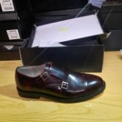 NEW & BOXED BURGUNDY TYGER MONK GENTLEMANS SHOES SIZE UK - 11/ EU - 45/ US -12 BY TOPMAN. RRP £49