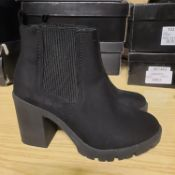 NEW & BAGUED BLACK BYRON LADIES BOOTS SIZE UK - 2/ EU - 35/ US - 4.5 COLLECTION BY TOPSHOP. RRP £36