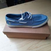BOXED AND NEW BLUE LAGUNA GENTLEMANS SHOES SIZE UK - 12/ EU - 46/ US -13 BY AN ORIGINAL PENGUIN. RRP