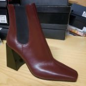 NEW & BAGUED BURGUNDY HARBOUR LADIES BOOTS SIZE UK - 6/ EU - 39/ US - 8.5 COLLECTION BY TOPSHOP. RRP