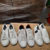 X 3 NEW & BAGUED PAIR OF GENTLEMAN TRAINERS IN VARIOUS SIZES. TOTAL RRP £103. ALL SLIGHTLY DIRT.