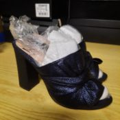 NEW & BAGUED NAVY SHIMMER LADIES SHOE SIZE UK - 3/ EU - 36/ US - 5.5 COLLECTION BY WALLIS. RRP £46