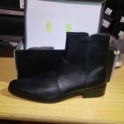 NEW & BOXED BLACK PU BRAVE WESTERN GENTLEMANS SHOES SIZE UK - 10/ EU - 44/ US -11 BY TOPMAN. RRP £