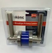 Pallet of 384 x IKONIC BN BROOKLYN PRIVACY LEVER. Approximate RRP £768.00