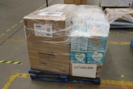 Mixed Pallet of 104 items, Brands include Purflo & Nuby. Total RRP Approx £2058.15