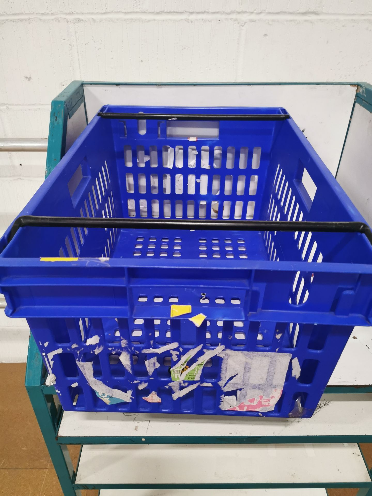 Pallet of 60 x 55Ltr Ventilated stacking & nesting crates/totes from M&S.