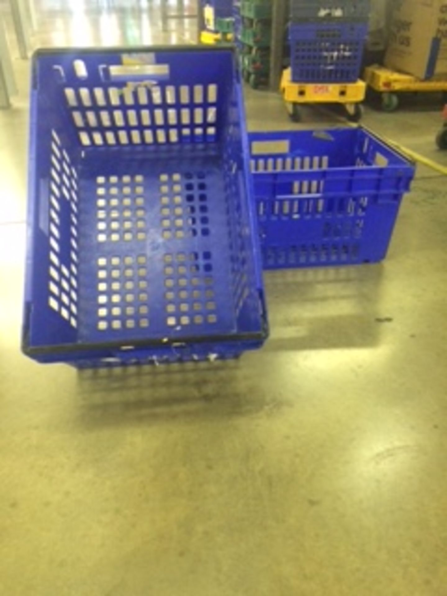Pallet of 60 x 55Ltr Ventilated stacking & nesting crates/totes from M&S. - Image 2 of 4