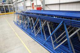 Warehouse racking uprights.