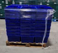 Pallet of 40 x 55Ltr Ventilated stacking & nesting crates from M&S.
