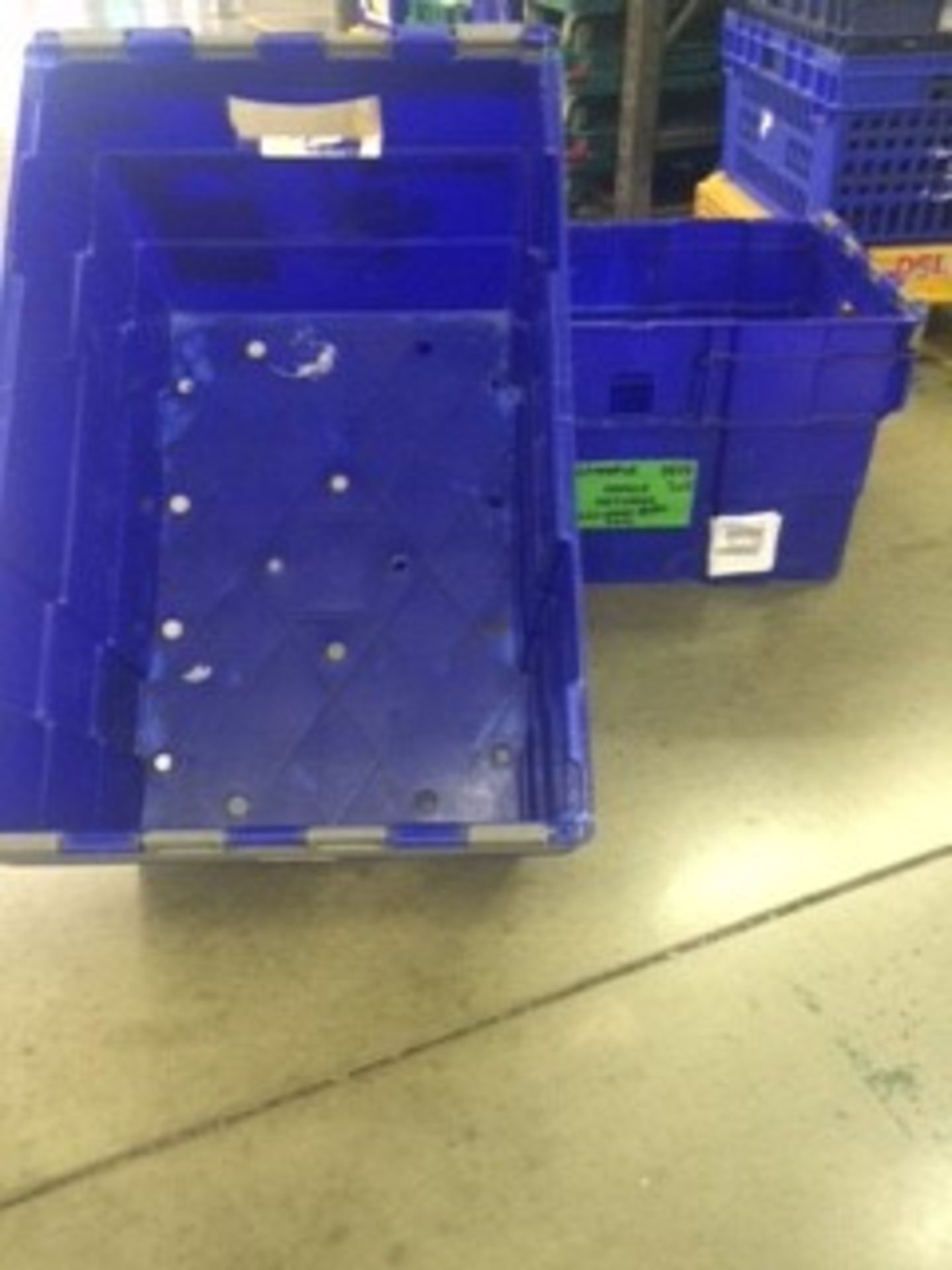 Pallet of 70 x used Blue Solid industrial storage containers/tote boxes from M&S. - Image 4 of 4