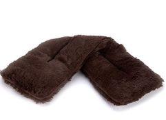 Box of 4 x Warmies Brown Fur Neck Wrap. Approx total RRP £46