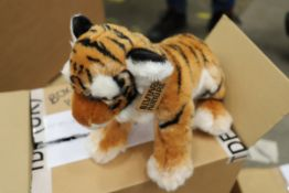 Box of 2 x Tiger Sitting plush toys. Approx total RRP £31