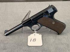"18 Colt Woodsman .22LR, 4"" Barrel SN:117871"