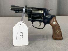 13. S&W Mod. 36 .38S&W 5-Shot Revolver, Diamond Grips, Pinned & Recessed Barrel SN: 434593