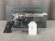 """2. Ruger New Vaquero .45LC Stainless, Hard Case, 5 1/2"""" Barrel SN: 510-2790"""