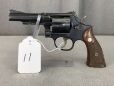 "11. S&W Pre-18 .22LR 6-Shot Revolver, 4"" Barrel, Diamond Grips SN:228463"