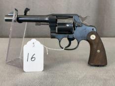 """16. Colt New Service .45 Colt, 5"""" Barrel, SN: 353529"""