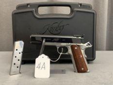 4A. Kimber Custom Shop Grand Raptor II .45ACP, Bi-Tone Stainless, Deluxe Beaver Tail, Signature