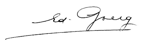 Autograph. – Edouard Goerg