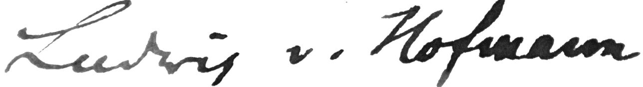 Autograph. – Ludwig v. Hofmann