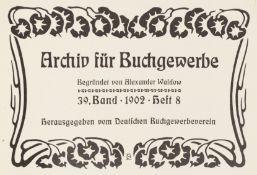 Buchwesen. – Archiv für Buchgewerbe.