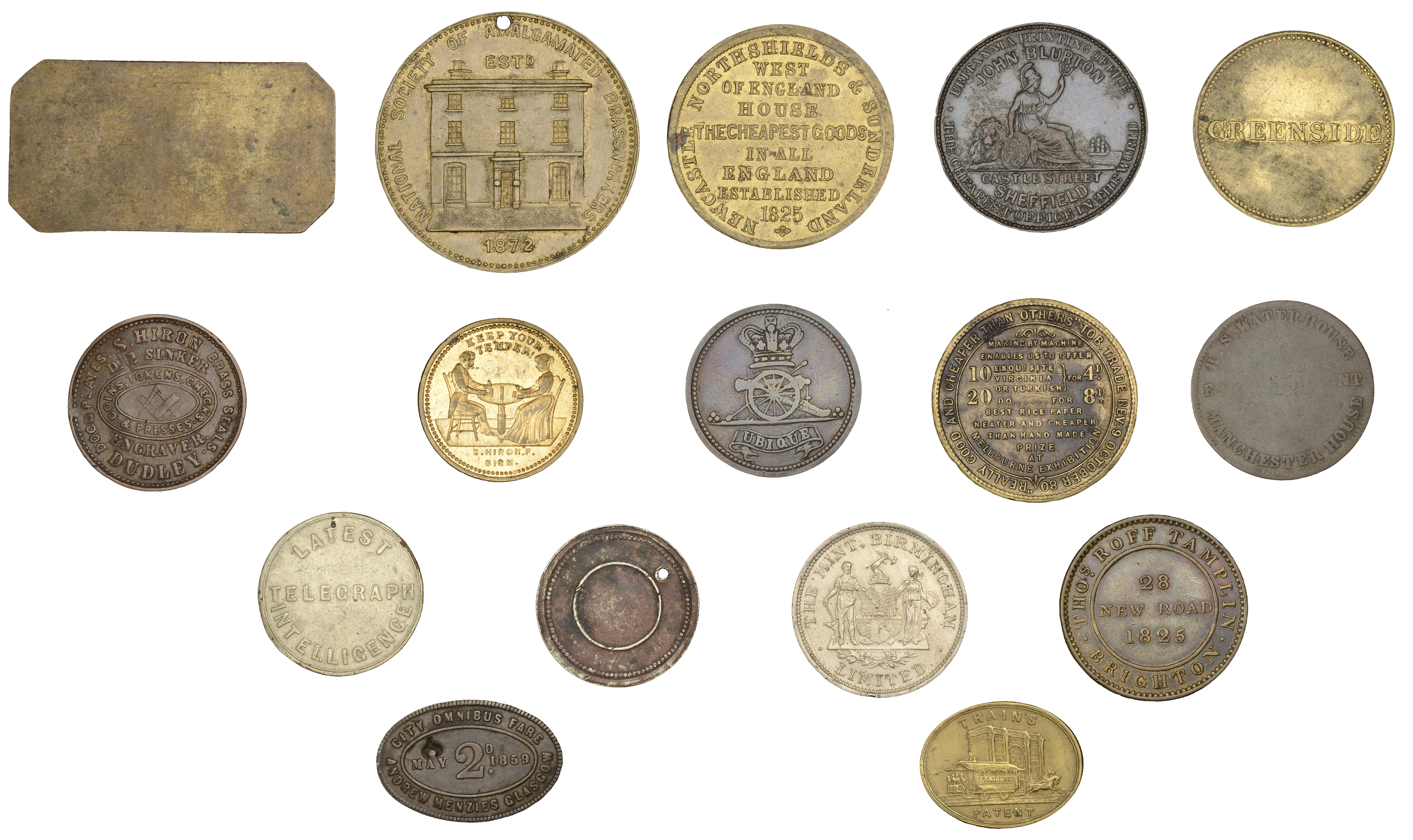 British Tokens from the Collection of the late Bill McKivor - Image 2 of 2