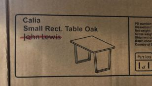 JOHN LEWIS CALIA 4 SEATER DINING TABLE