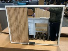 HOUSE BY JOHN LEWIS RIDGE DOUBLE MIRRORED BATHROOM CABINET