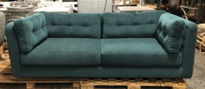 JOHN LEWIS BOOTH LARGE 3 SEATER SOFA IN TEAL