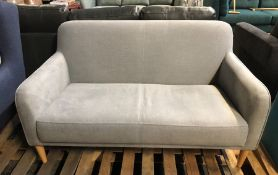 HOUSE BY JOHN LEWIS COMPACT SMALL 2 SEATER SOFA IN HATTON LIGHT GREY