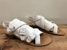 1 X PAIR OF LA REDOUTE COLLECTIONS WIDE FIT SANDALS WITH WIDE STRAPS / SIZE: 8 UK / RRP £56.00
