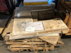 1 X BULK PALLET TO CONTAIN A LARGE AMOUNT OF MARBLE FIREPLACE SURROUNDS / COLOURS AND CONDITIONS