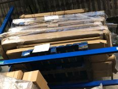 1 X BULK PALLET TO CONTAIN AN ASSORTMENT OF GRADE C/D FURNITURE AND BED PART LOTS / CONDITIONS VARY,