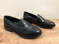 1 X PAIR OF LA REDOUTE COLLECTIONS LEATHER LOAFERS / SIZE: 3.5 UK / RRP £68.00 SOURCED FROM LA