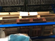 1 X BULK PALLET TO CONTAIN A BEN HOLMES BED AND FLOOR BOARDS / CONDITIONS VARY