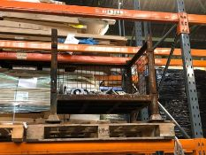 1 X BULK PALLET TO CONTAIN A METAL CAGE AND AN ASSORTMENT OF CASTORS