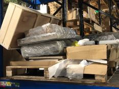 1 X BULK PALLET TO CONTAIN AN ASSORTMENT OF JOHN LEWIS FURNITURE AND BED PART LOTS / SETS